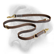 Double Training Leather Bullmastiff Leash