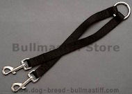 Nylon 2-Way Couplers Leash for 2 Bullmastiff