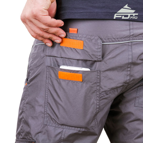 Comfortable Design FDT Professional Pants with Strong Back Pockets for Dog Training