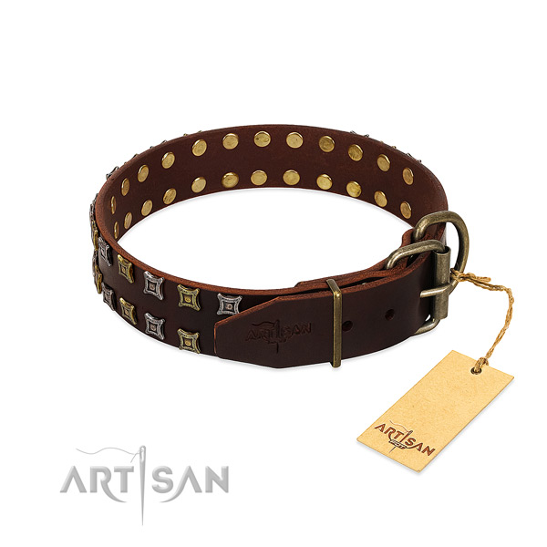 Best quality leather dog collar made for your canine