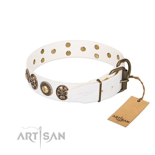 Durable decorations on comfy wearing dog collar