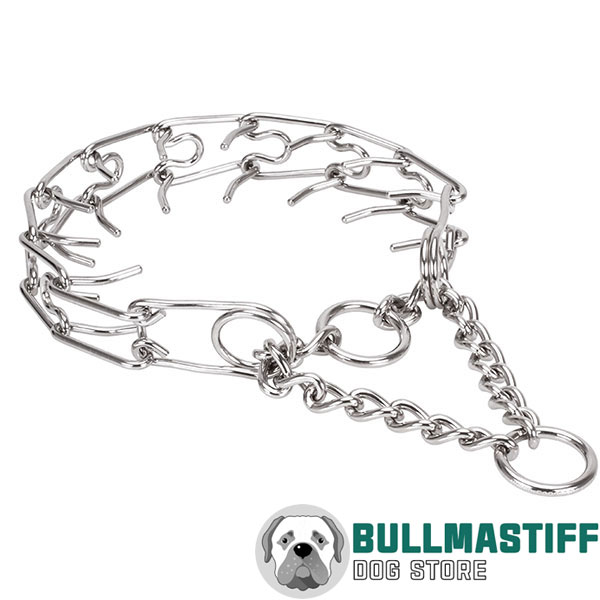 Large breeds stainless steel dog prong collar