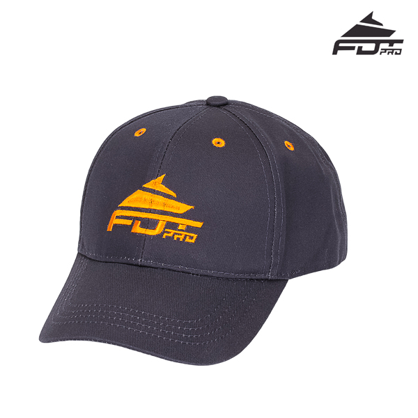 One-size Dark Grey Color Cap with Bright Logo for Dog Walking