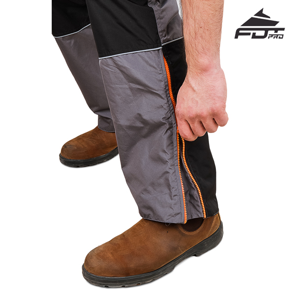 FDT Pro Design Dog Tracking Pants with High Quality Zippers