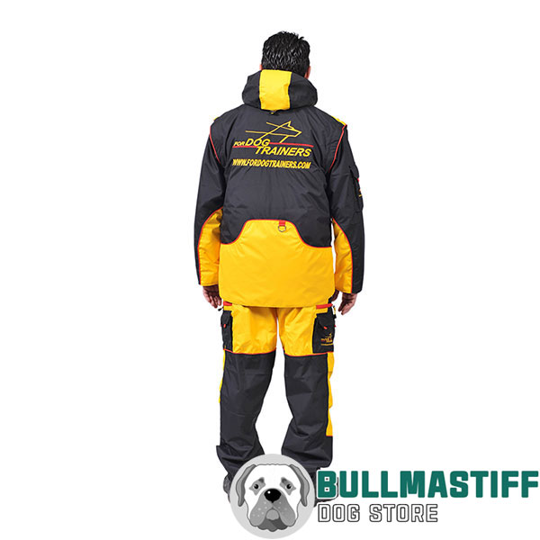 Membrane Fabric Dog Training Bite Suit with Back Pockets