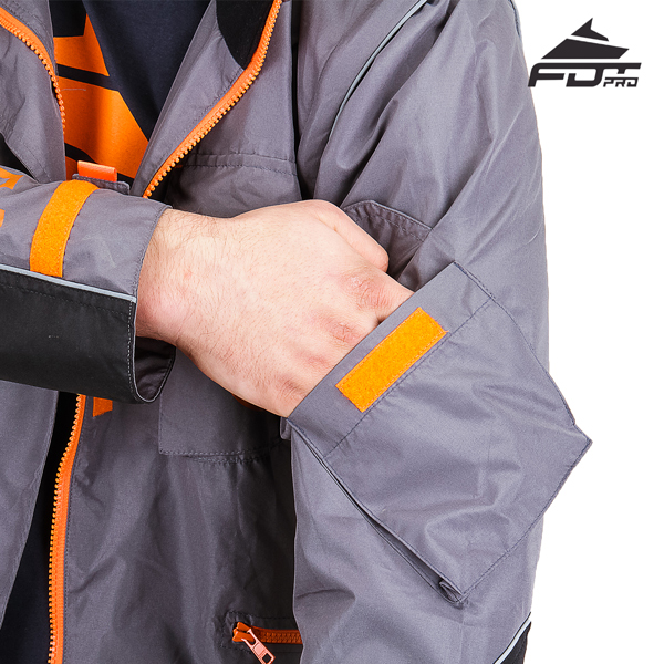 Durable Sleeve Pocket on Professional Design Dog Training Jacket