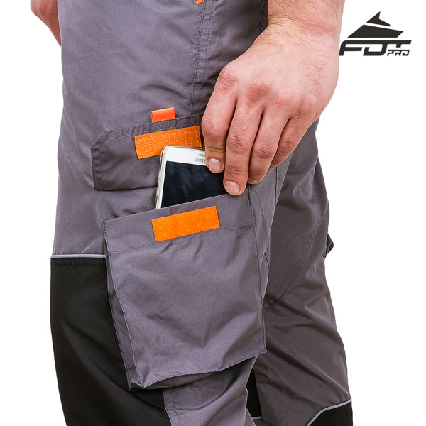 Durable Pants with Back Pockets on Velcro fastener