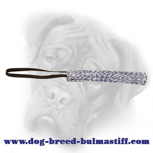 Pocket long Bullmastiff bite tug for puppy training