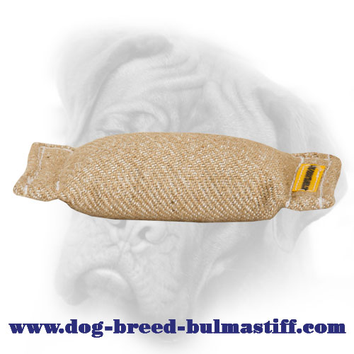 Jute Bullmastiff bite tug without handles