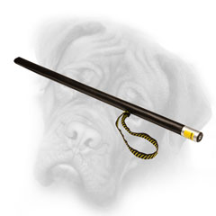 Plastic Bullmastiff stick with a loop