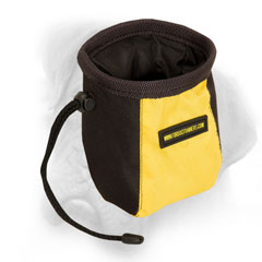 Bullmastiff raid treat bag with a pull-cord end