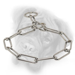 Choke chain collar for Bullmastiff