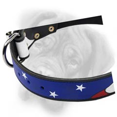 Bullmastiff stylish leather collar