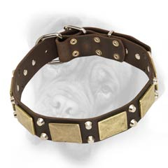 Bullmastiff quality leather dog collar