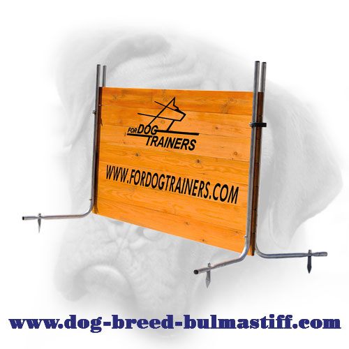 Pro Wood Barrier for Bullmastiff Training