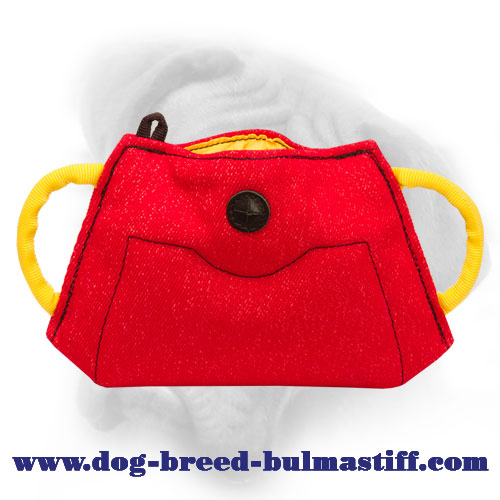French Linen Bullmastiff Bite Builder for Puppy and Young Dog Training