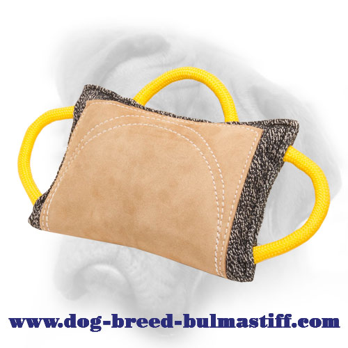 Advanced Training French Linen Bullmastiff Bite Pillow with Leather Area