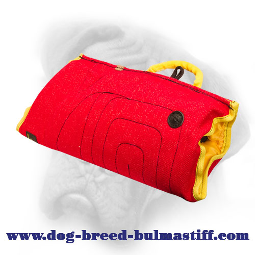 Exremely Soft French Linen Bullmastiff Bite Sleeve for Puppy Training