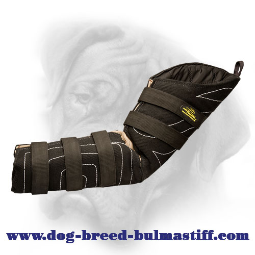 Dog Hidden Protection Bite Sleeve with Optional Reinforcement for Bullmastiff