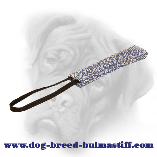 35% OFF - LIMITED OFFER Strong Pocket French Linen Bite Tug for Bullmastiff Puppy