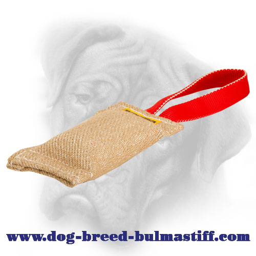 Quality Jute Bullmastiff Bite Tug for Puppy Biting Skills Development