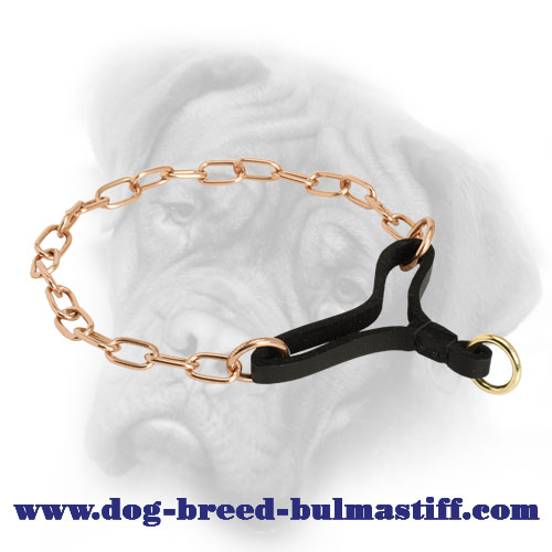 """Beauty and Control"" Curogan Martingale Collar for Bullmastiff - 1/9 inch (3 mm) - Click Image to Close"