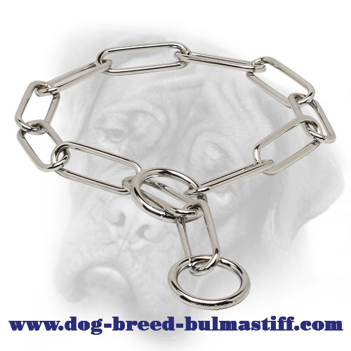 """Remedial Action"" Stainless Steel Bullmastiff Fur Saver Collar - 1/6 inch (4.0 mm)"