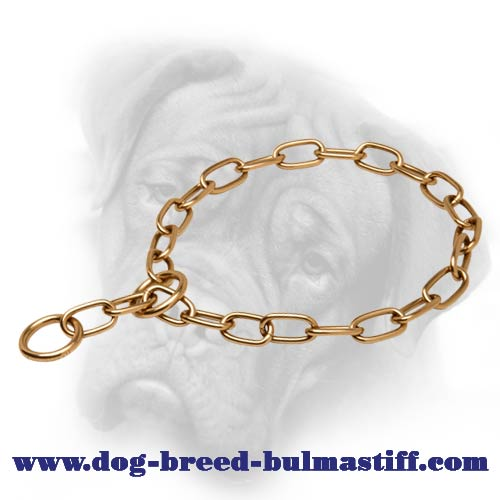 Curogan Fur Saver - Bullmastiff Chain Choke Collar - 1/9 inch (3 mm)
