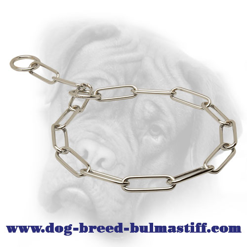 Royal Quality Bullmastiff Fur Saver Made of Stainless Steel - 1/6 inch (4.0 mm)