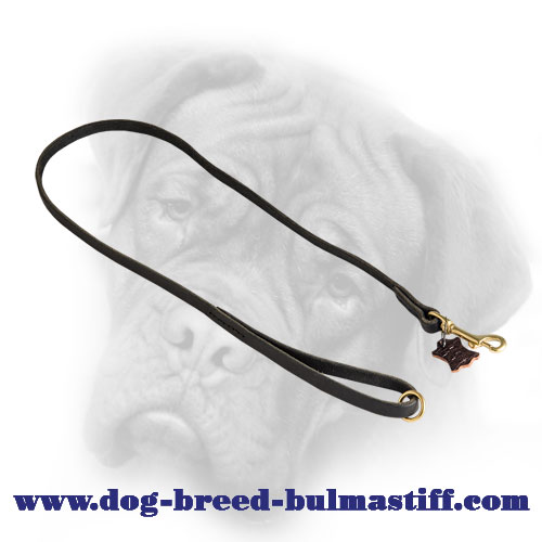 Handcrafted Leather Bullmastiff Leash with Floating O-ring