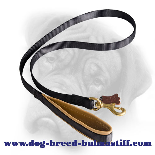 No Limits with This Nylon Bullmastiff Leash with Support Material on The Handle