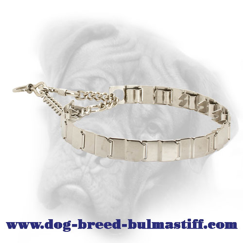 Stainless Steel Neck Tech Pinch Collar for Bullmastiff Breed - 24 inch (60 cm)