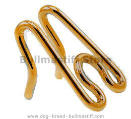 Curogan Extra Links for Gold-Like Pinch Collar for Bullmastiff - 1/6 inch (3.99 mm)