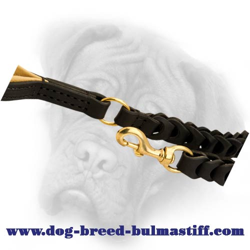 Amaizing Handcrafted Bullmastiff breed leash