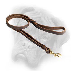 Top quality Bullmastiff leash with extra handle