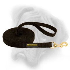 Strong Bullmastiff leash for tracking and patrolling
