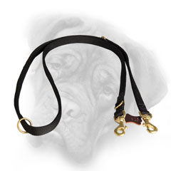 Multitask nylon Bullmastiff leash with 2 snap hooks